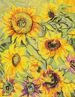 Jacob Epstein (1880 – 1959) - Sunflowers, 1933. Private collection © The estate of Sir Jacob Epstein