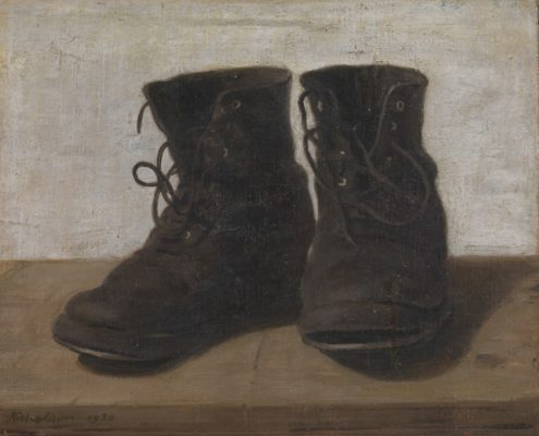 William Nicholson (1872-1949) - Miss Jekyll's Gardening Boots, 1920. Tate © Desmond Banks