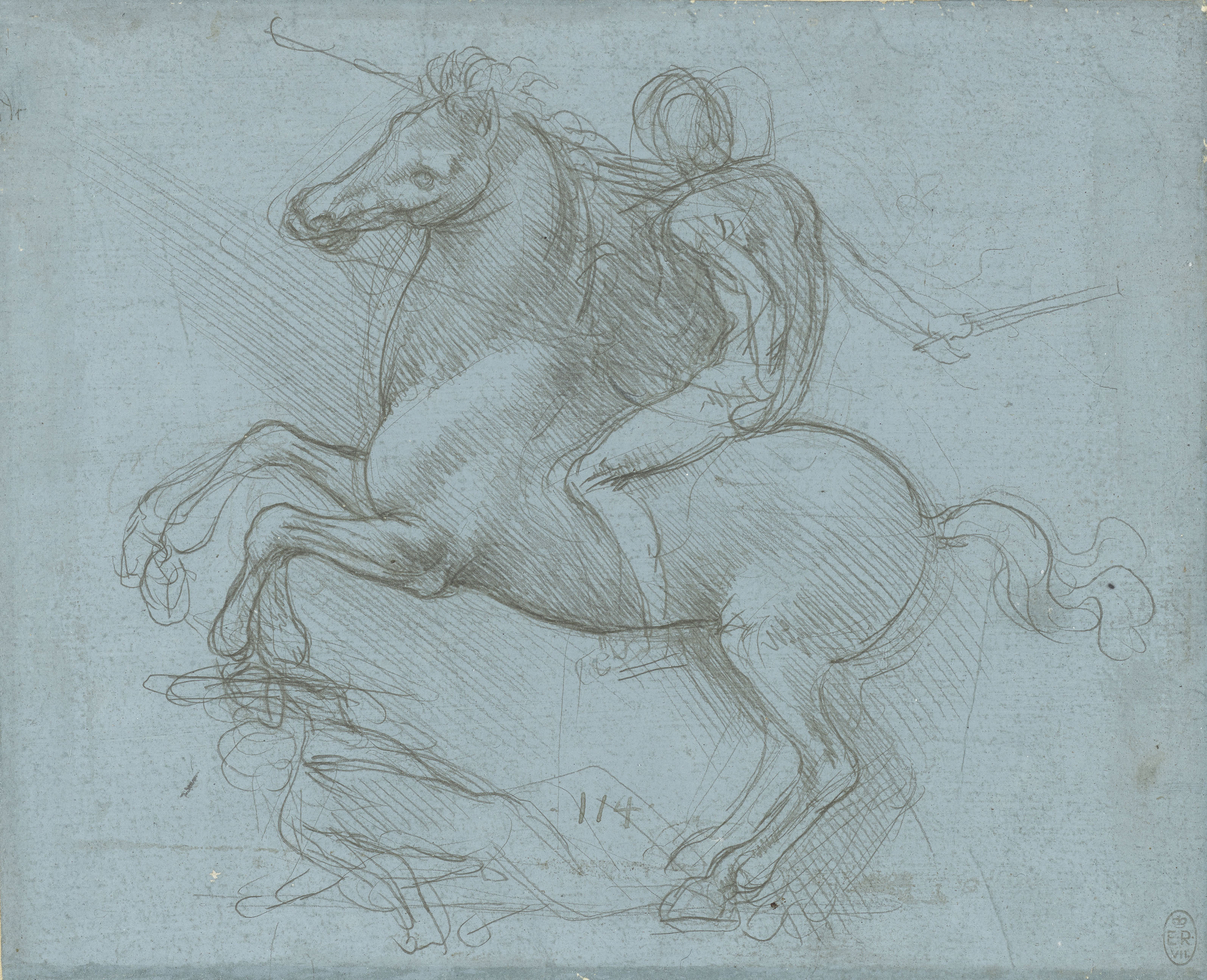 Leonardo da Vinci, A design for an equestrian monument, c.1485-8