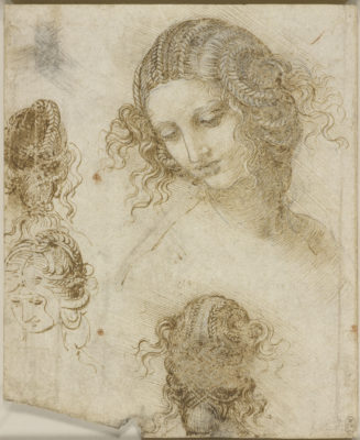 Leonardo da Vinci, 'Studies for the head of Leda', c.1505-8