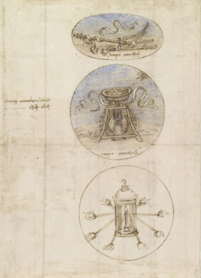 Leonardo da Vinci, 'Three emblems', c.1508-10