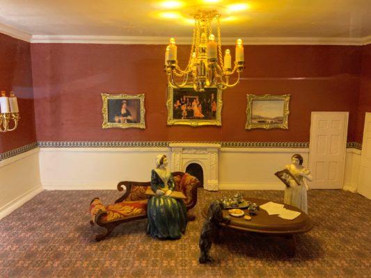 Room inside the Kensington Palace dollshouse