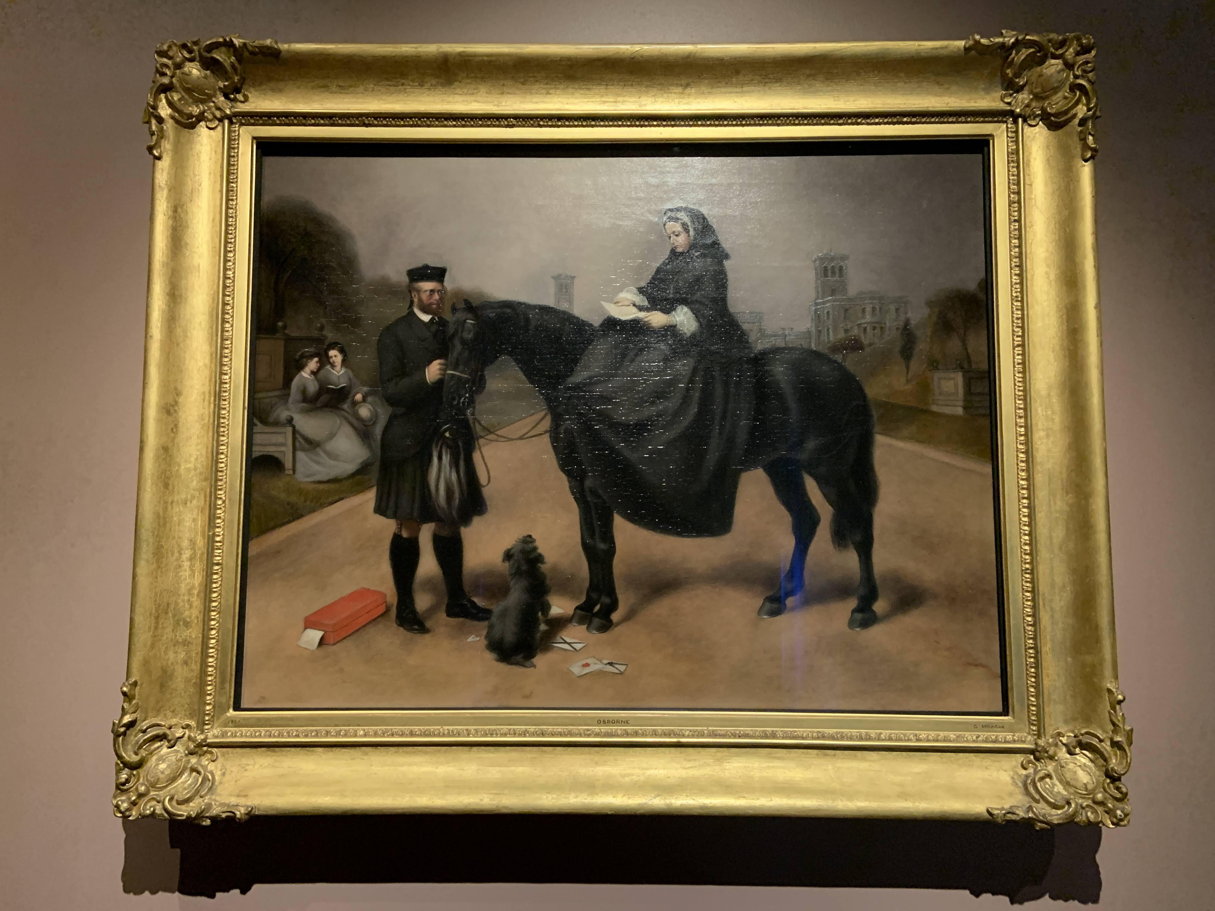 Queen Victoria at Osborne by Gilbert Sprague after Landseer