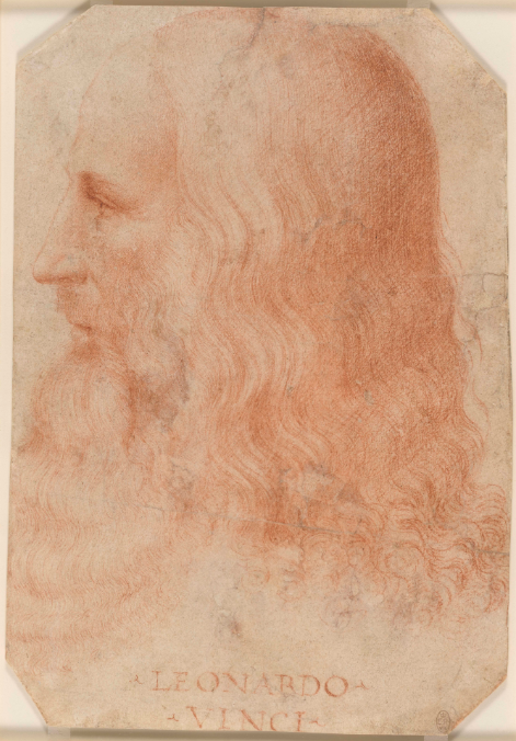 Attributed to Francesco Melzi, A portrait of Leonardo in profile, c.1515-18