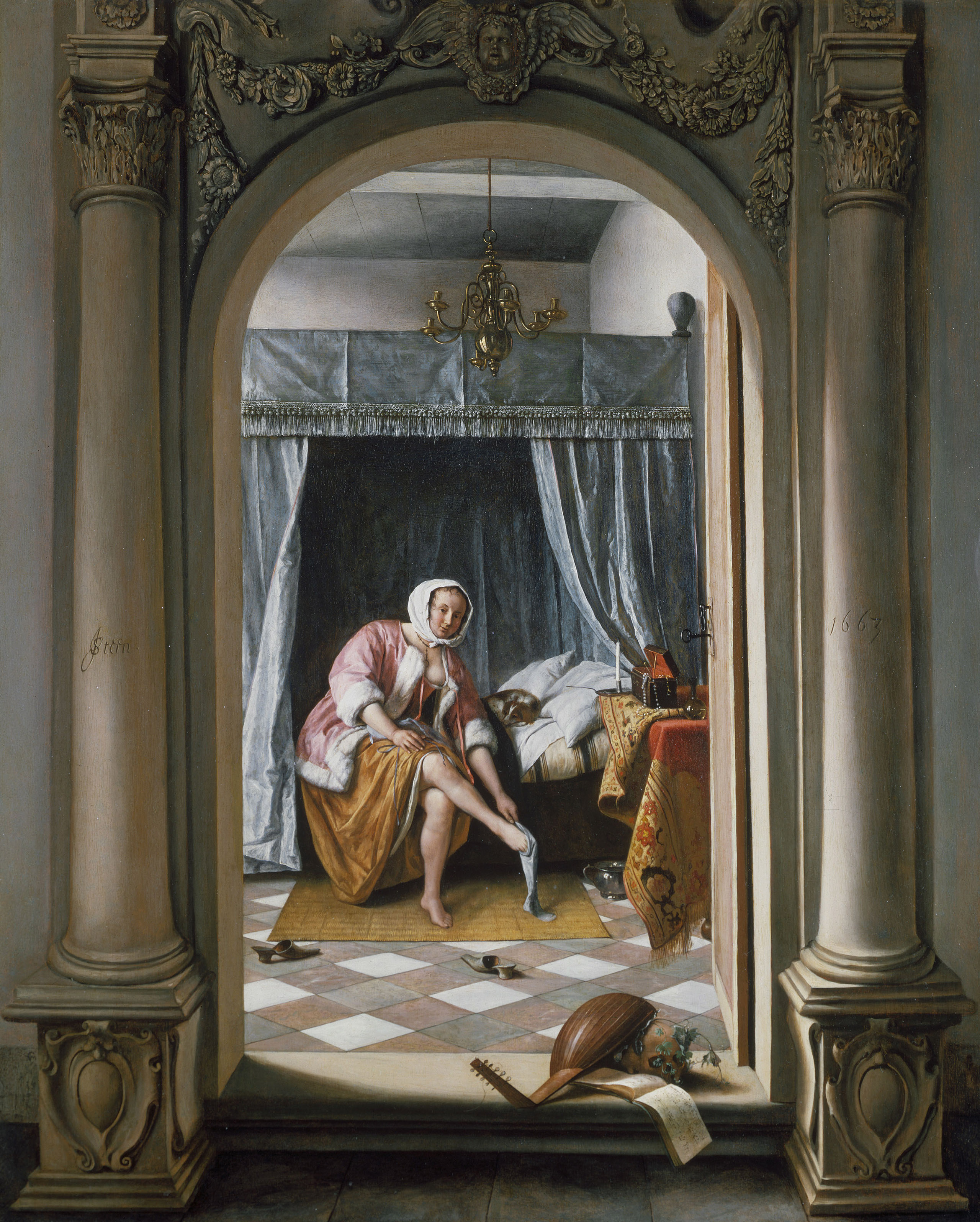 Jan Steen, A Woman at her Toilet, 1663