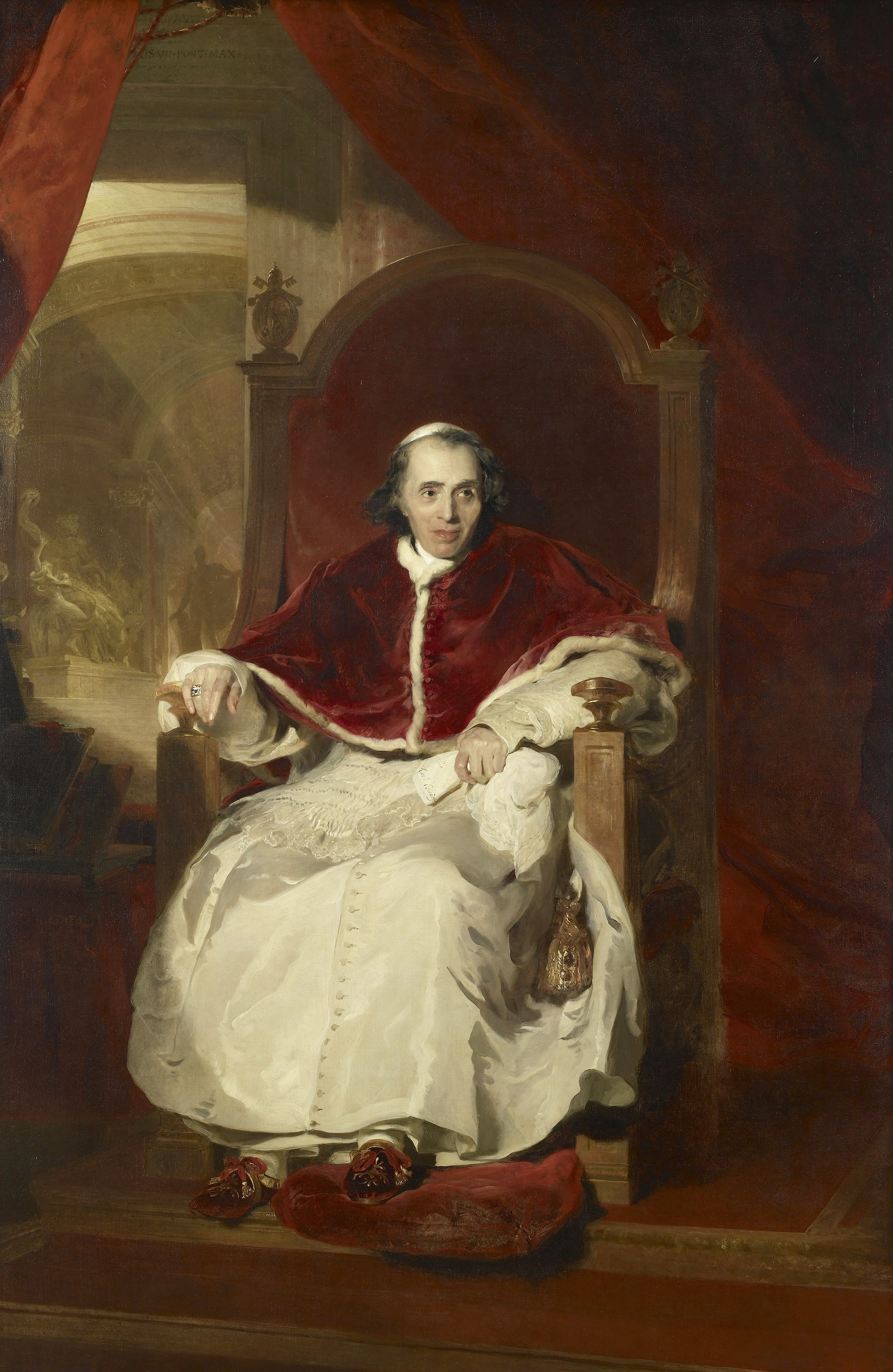 Sir Thomas Lawrence, Pope Pius VII (1742-1823), 1819. From the Waterloo Chamber, Windsor Castle.