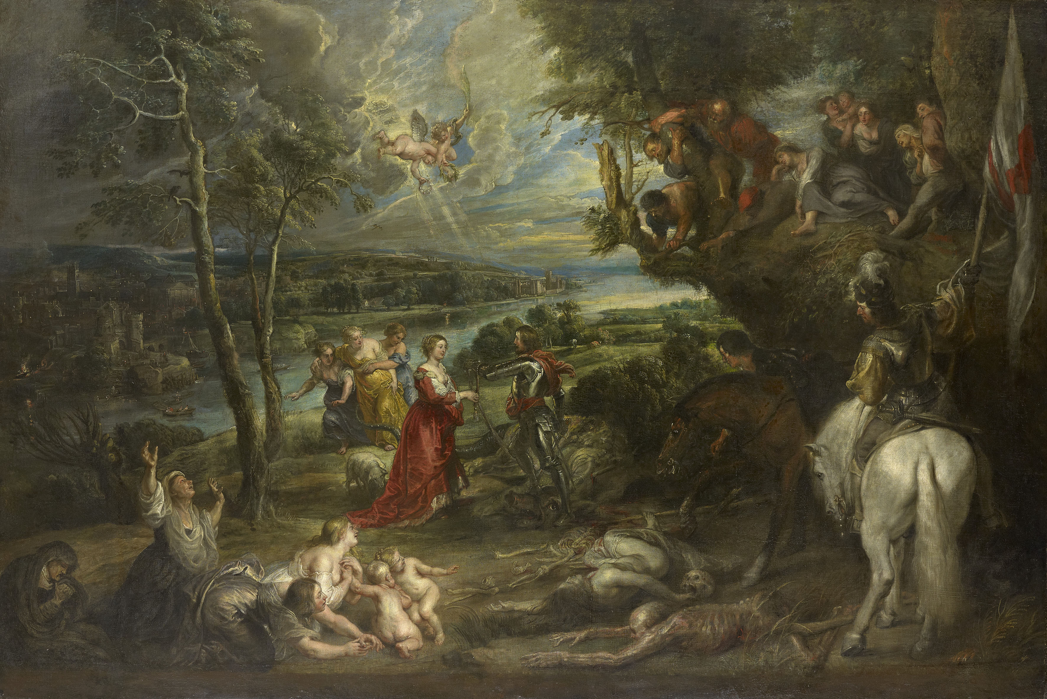 Sir Peter Paul Rubens, Landscape with St George and the Dragon, 1630-5