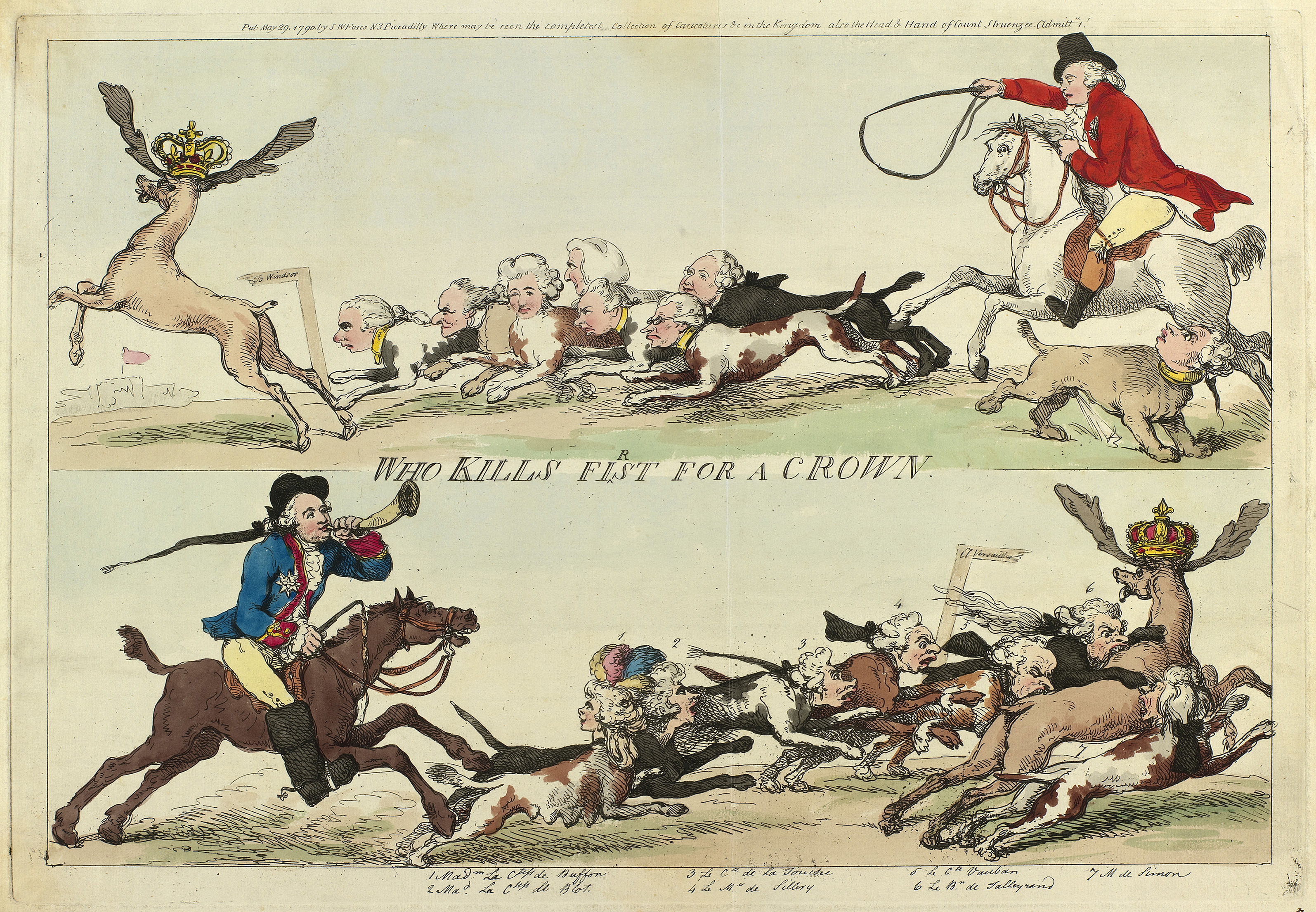 Thomas Rowlandson, Who Kills First for a Crown, 1790