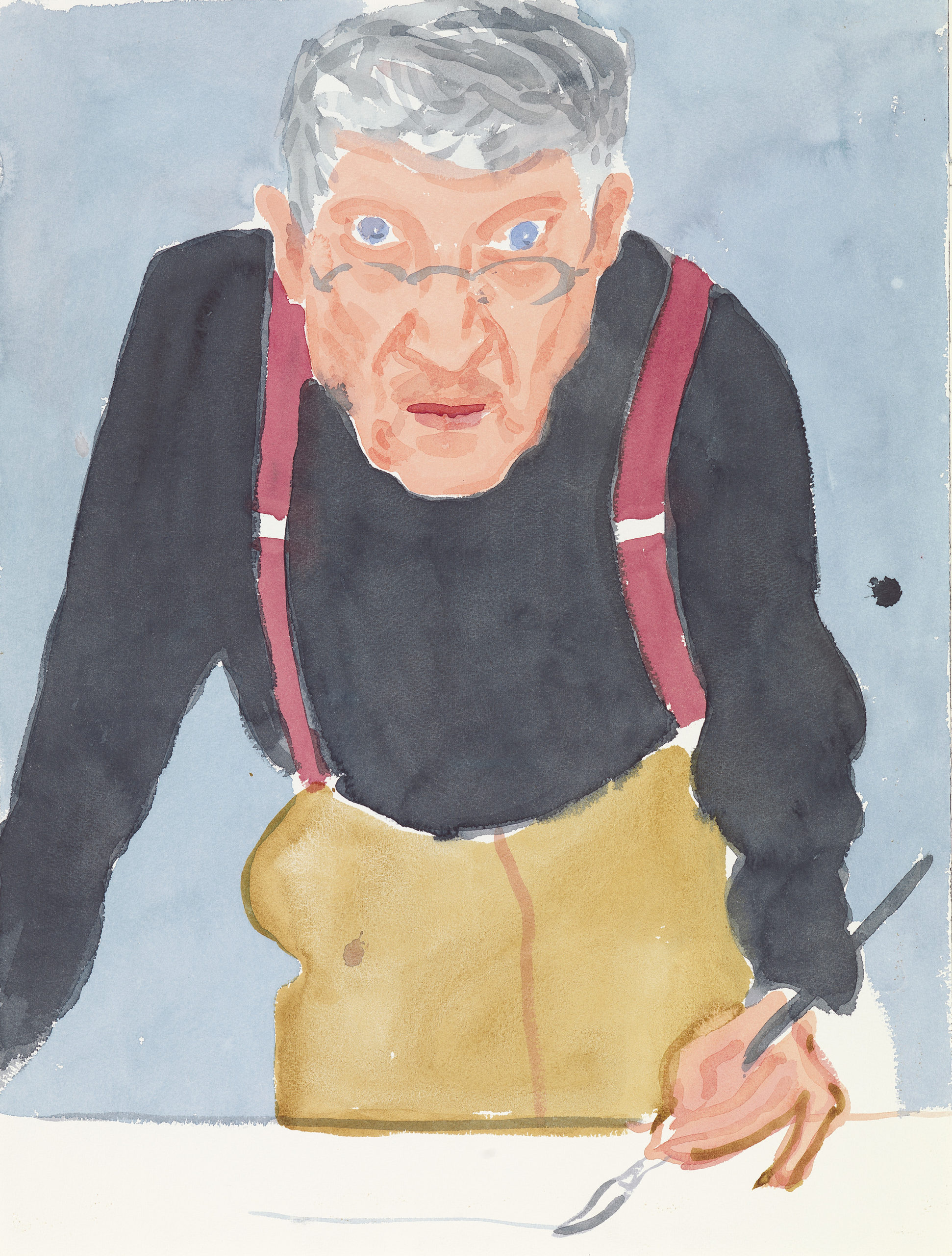 David Hockney - Self Portrait with Red Braces, 2003