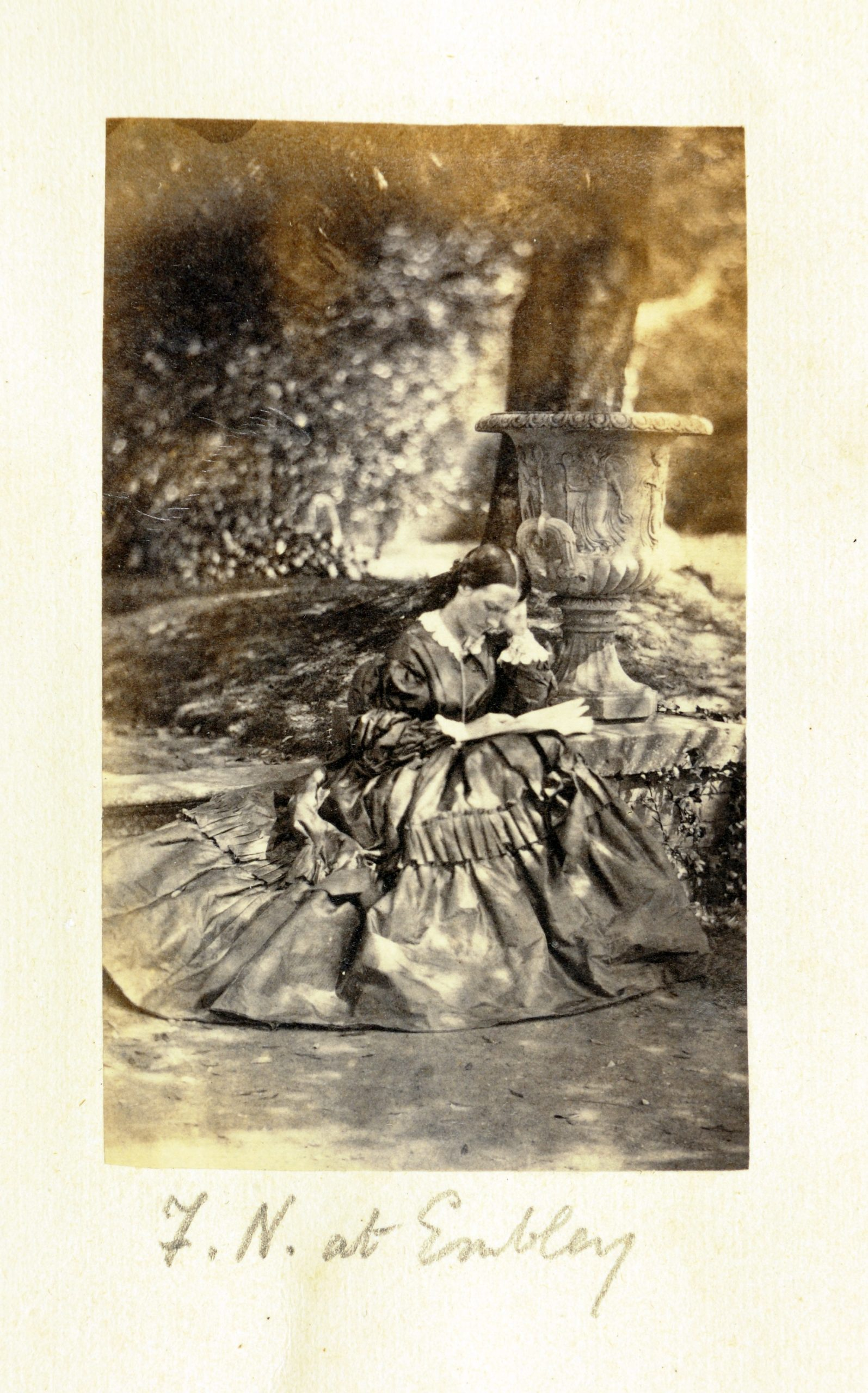 Florence Nightingale at Embley Park in 1858, just after Crimean War. Photography by William Slater