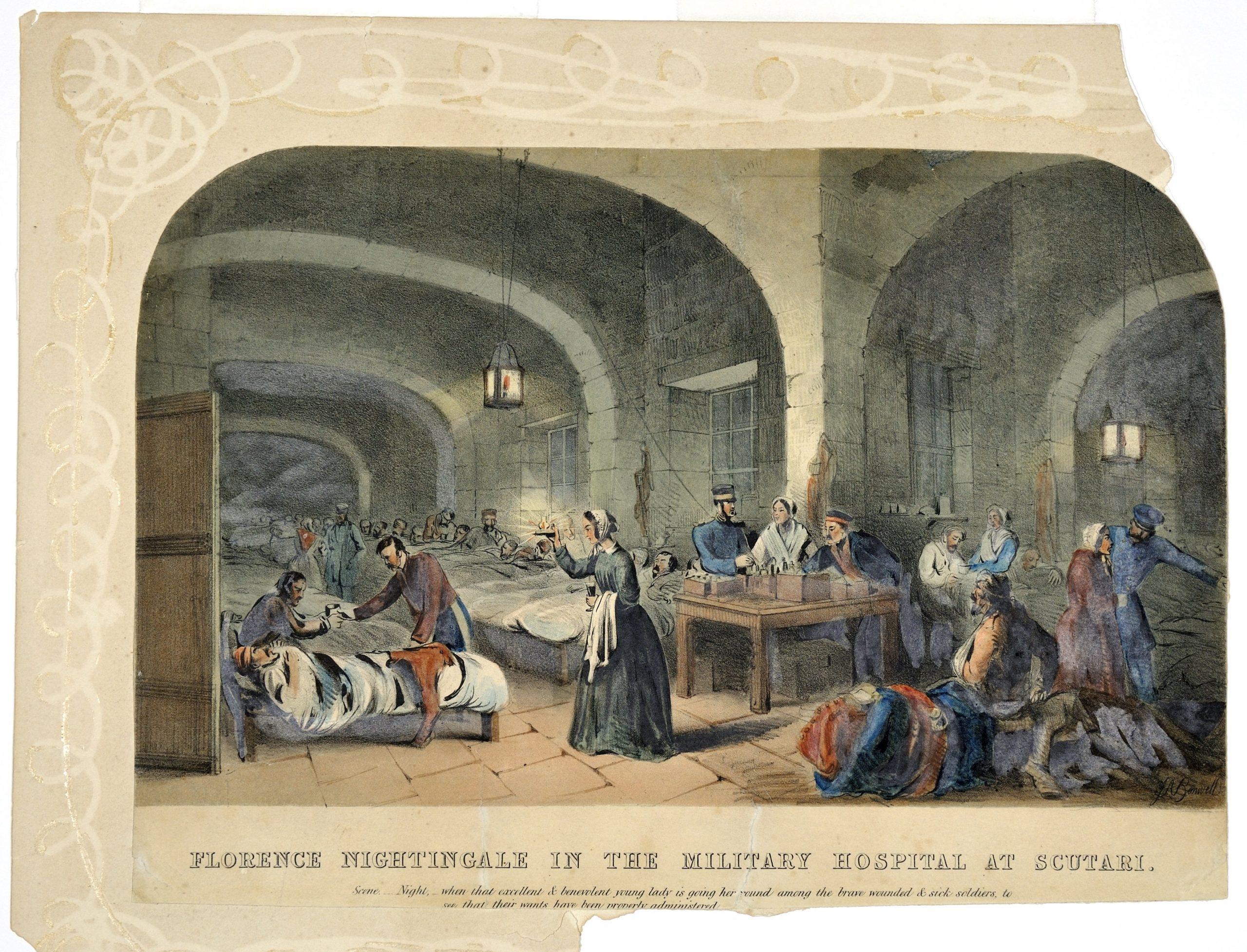 Florence Nightingale at Scutari Hospital