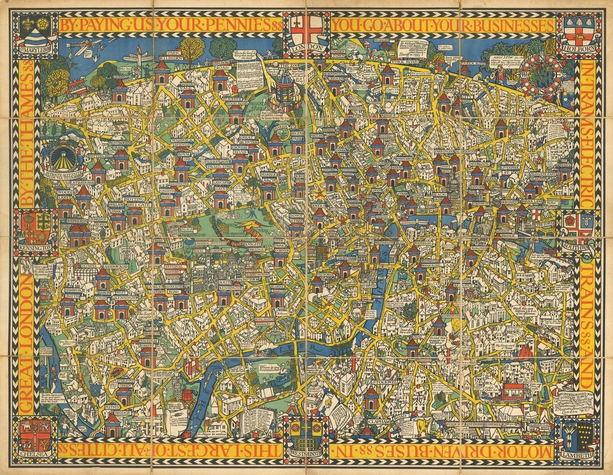 London Wonderground Map Fill Sized