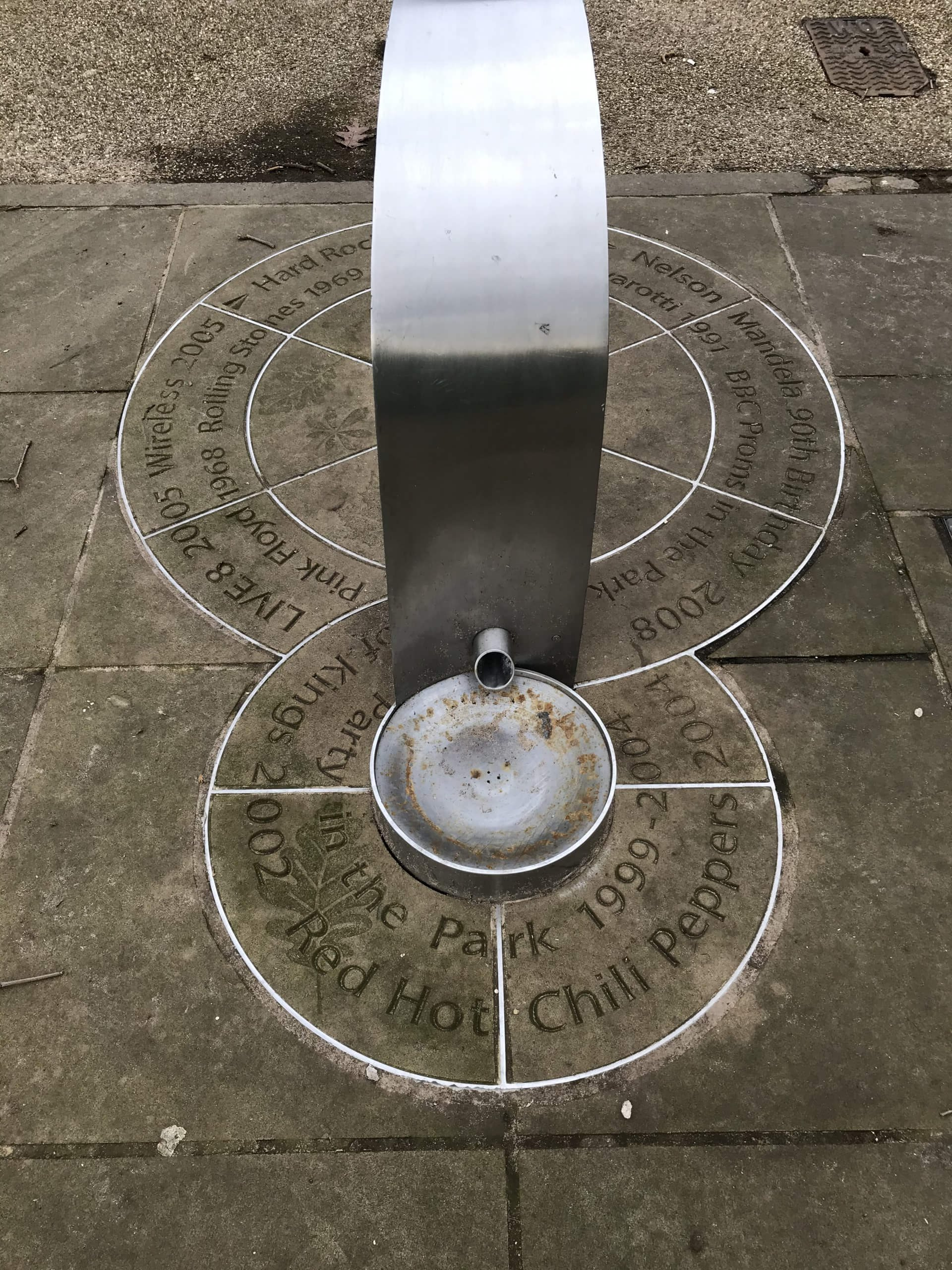 Concerts in Hyde Park drinking fountain