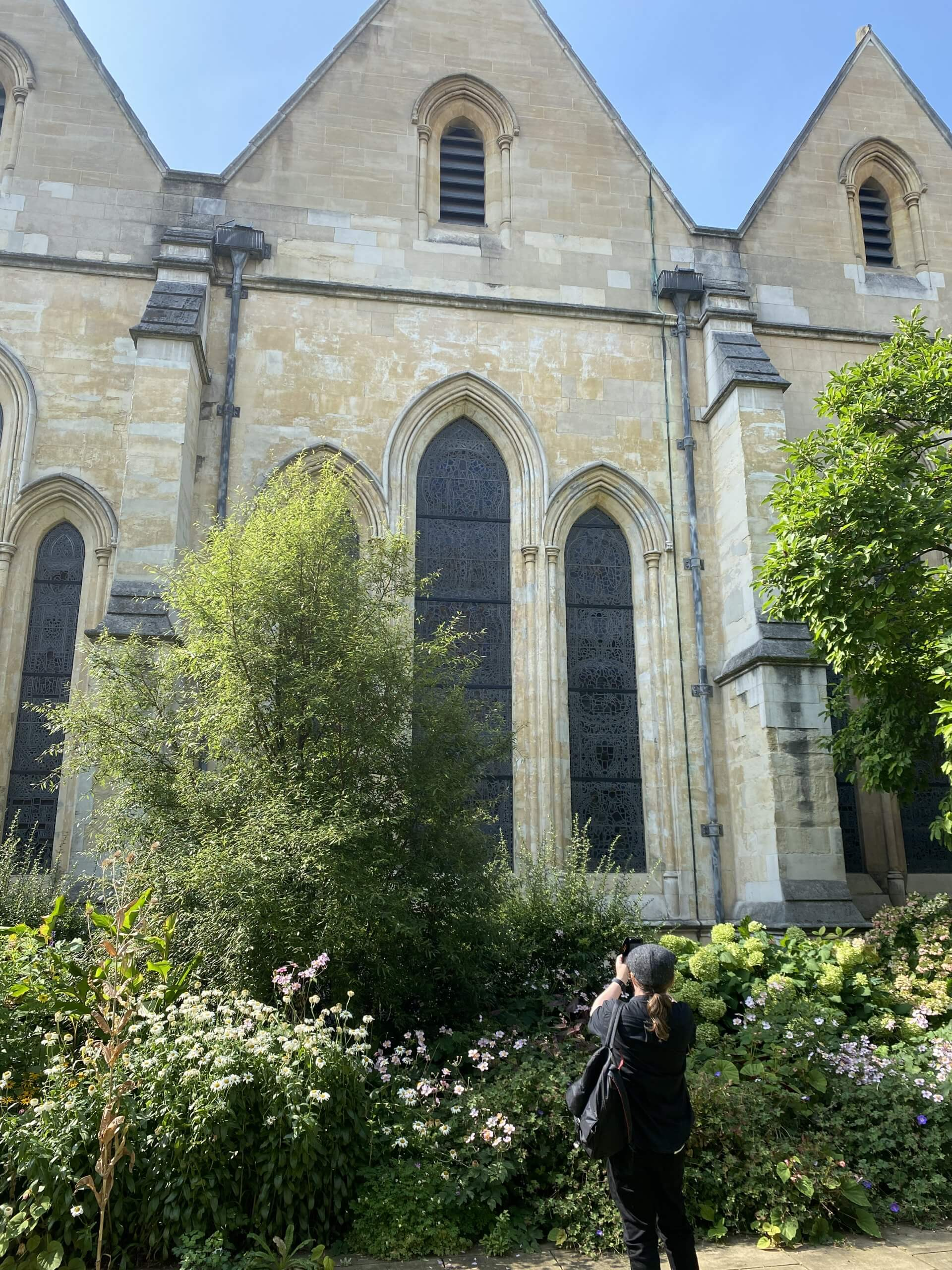 The Master's Garden looking at Temple Church