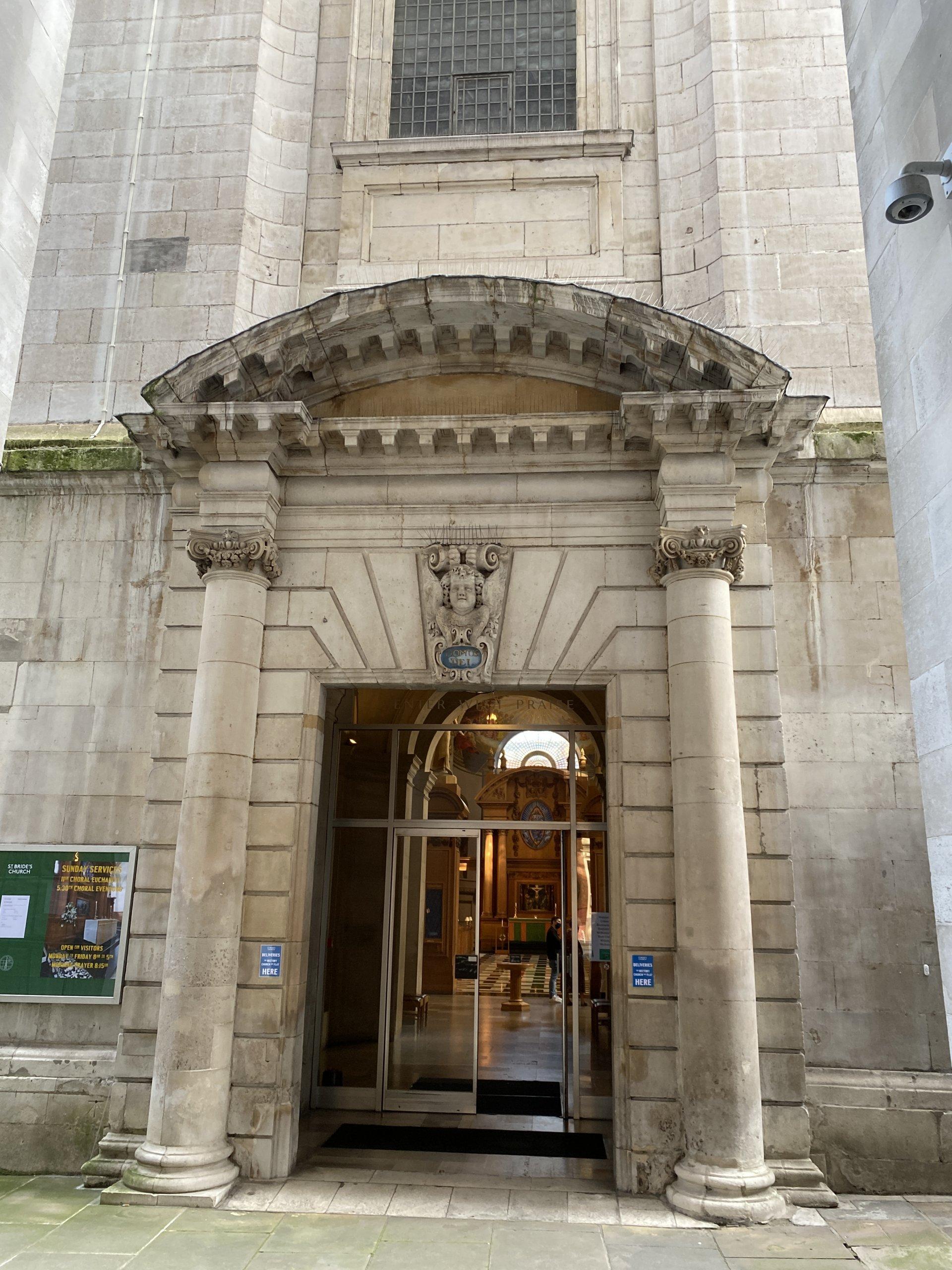 Great West Doors, St Bride's Church, London